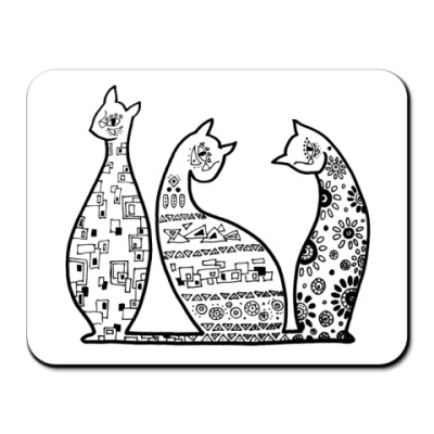 Коврик для мыши Кошечки