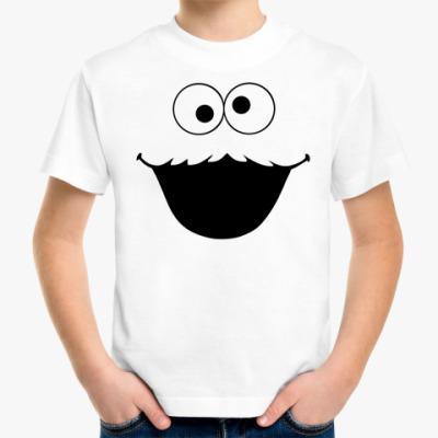 Детская футболка большое лицо