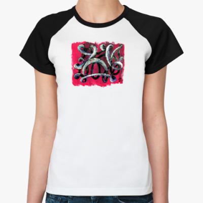 Женская футболка реглан Абстракция