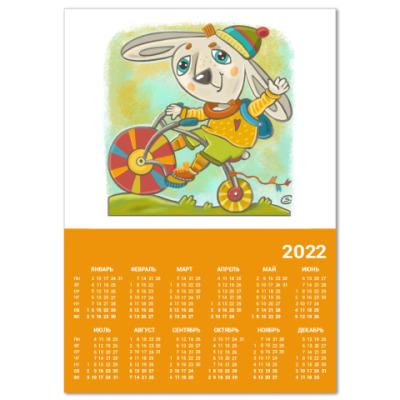Календарь Заяц на велосипеде