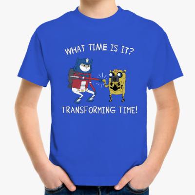 Детская футболка Transforming time