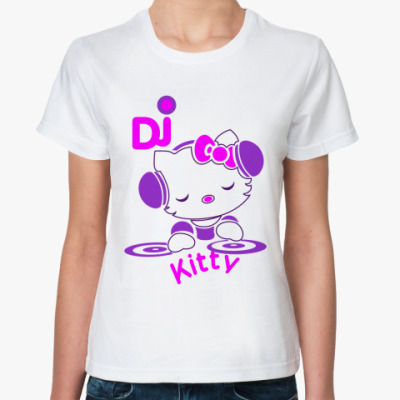 Классическая футболка DJ - Kitty