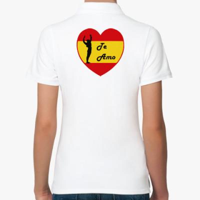 Женская рубашка поло Я люблю тебя по-испански