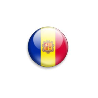 Значок 25мм Флаг Андорры