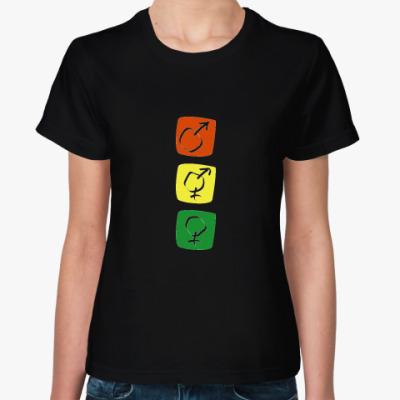 Женская футболка светофор