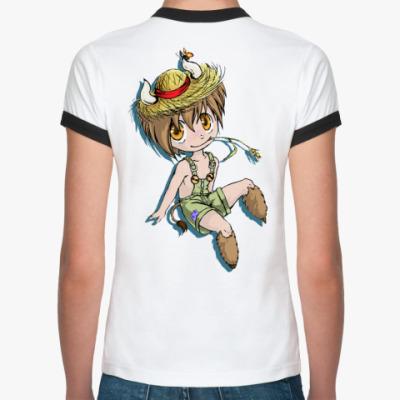 Женская футболка Ringer-T чибики