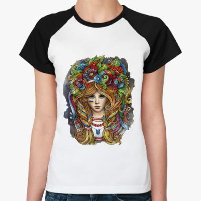 Женская футболка реглан Украинка