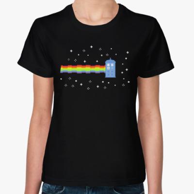 Женская футболка  Nyan Cat &TARDIS