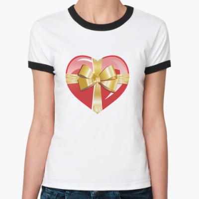 Женская футболка Ringer-T Подарок