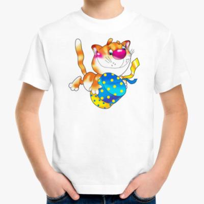 Детская футболка КОТ С КОРОБКОЙ