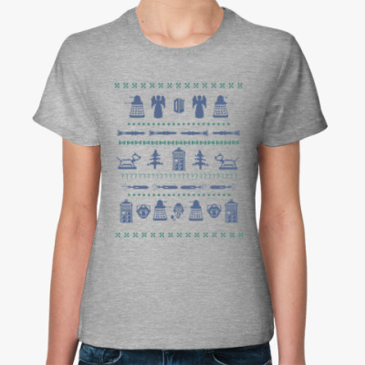 Женская футболка Doctor Who орнамент