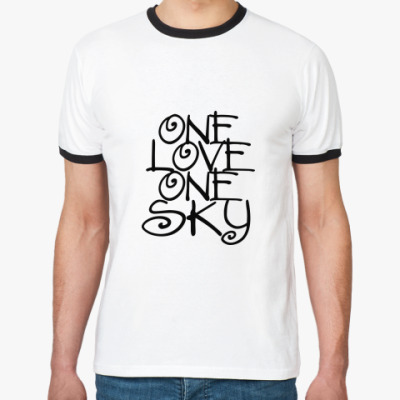 Футболка Ringer-T ONE love, ONE sky