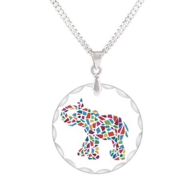 Кулон Слон - мозаика