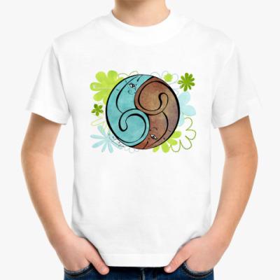 Детская футболка Коты 69-кофе и хвоя