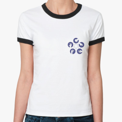 Женская футболка Ringer-T  'Игра Шелдона'
