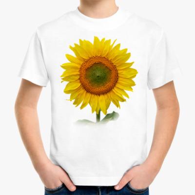 Детская футболка Подсолнух