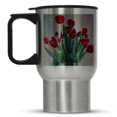 Кружка-термос 'Тюльпаны'