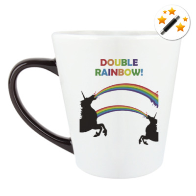 Кружка-хамелеон Двойная радуга