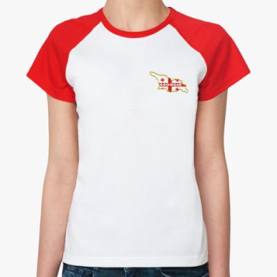 Женская футболка реглан Грузия