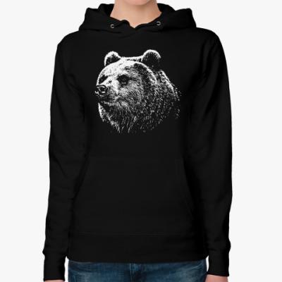 Женская толстовка худи Медведь
