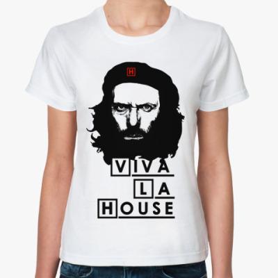Классическая футболка Viva La House Жен (бел)
