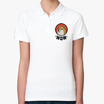 Женская рубашка поло Лайка WOW