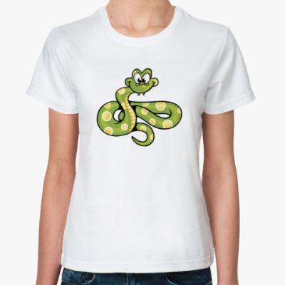 Классическая футболка Змея