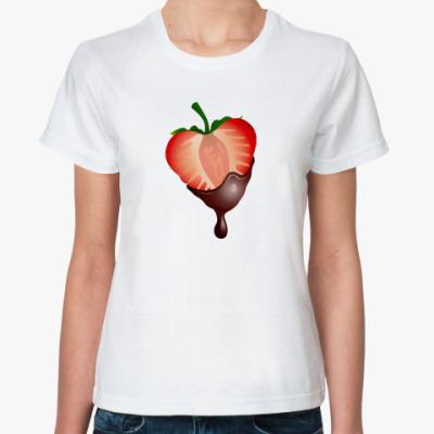 Классическая футболка Клубника