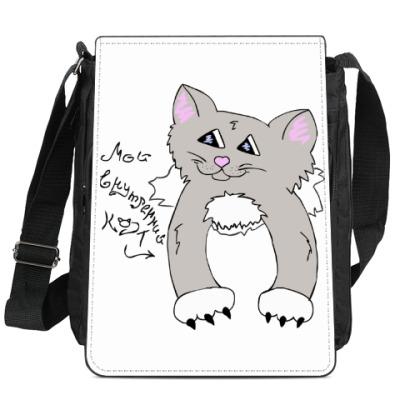 Сумка-планшет Мой внутренний кот (Дымок)