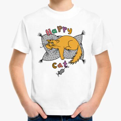 Детская футболка Happy cat