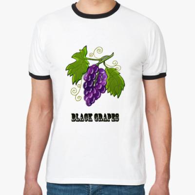 Футболка Ringer-T Black Grapes