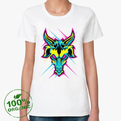 Женская футболка из органик-хлопка CYMK Коза