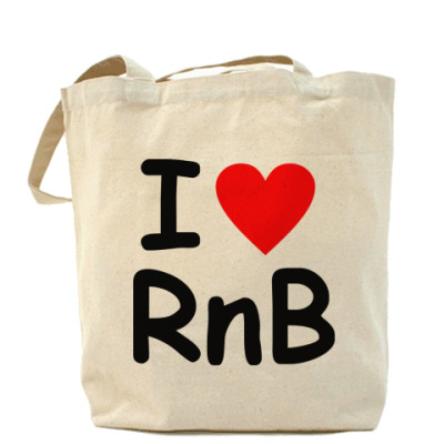 Сумка Холщовая сумка- I love Rnb
