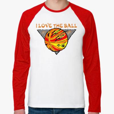 Футболка реглан с длинным рукавом I Love The Ball