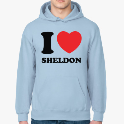 Толстовка худи I Love Sheldon