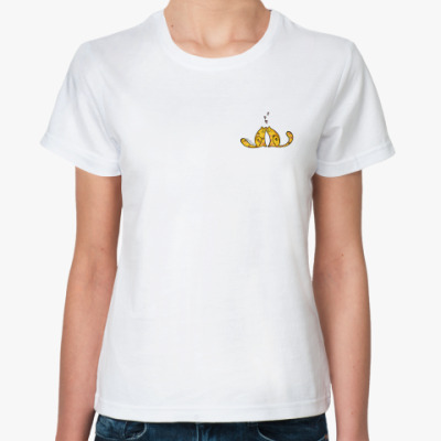 Классическая футболка  Влюблённые коты