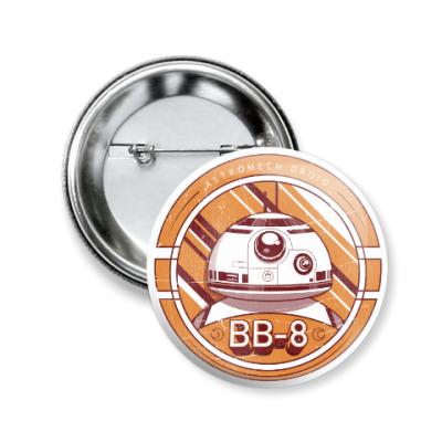 Значок 50мм Дроид BB-8