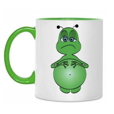 Кружка Зеленый человечек