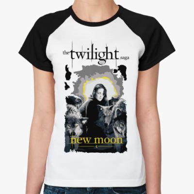 Женская футболка реглан Bella and wolves