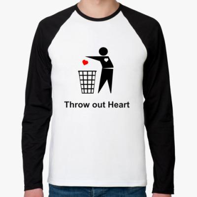 Футболка реглан с длинным рукавом Throw out Heart