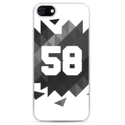 Чехол для iPhone Цифра 58 (Low Poly)