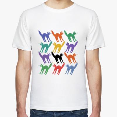 Футболка Разноцветные йошкины коты