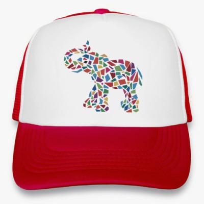 Кепка-тракер Слон - мозаика