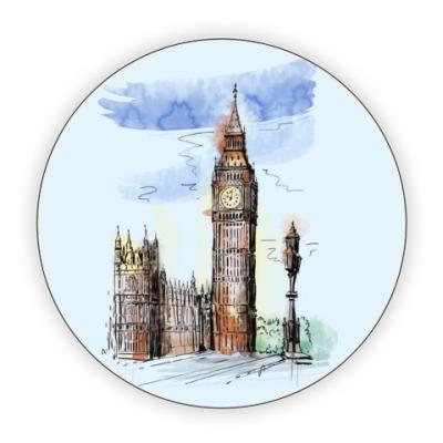 Костер (подставка под кружку) Биг-Бен - Big Ben - Англия - Лондон