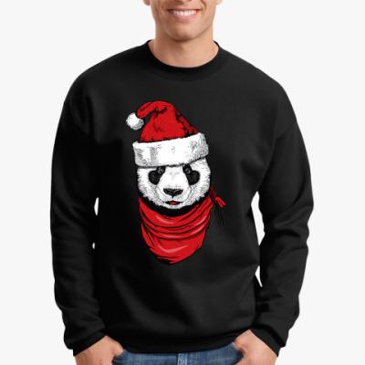Свитшот Панда Санта-Клаус