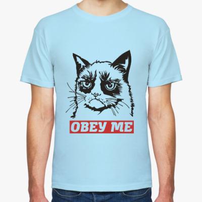 Футболка Obey the kitty.