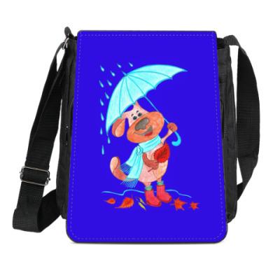 Сумка-планшет Пес Захар и осень