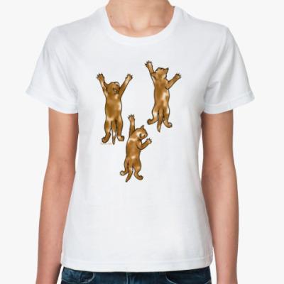 Классическая футболка Разноцветные котята