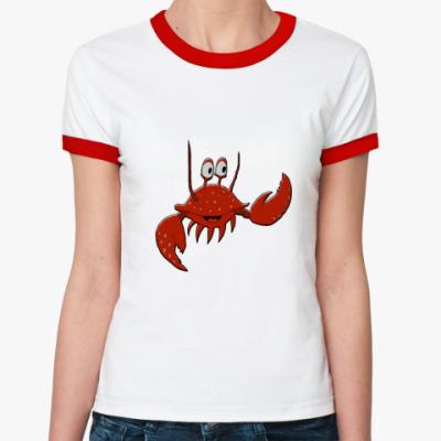 Женская футболка Ringer-T   Краб
