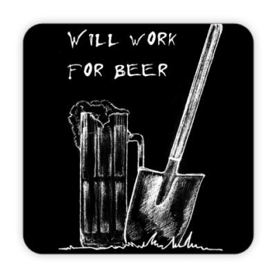 Костер (подставка под кружку) Пиво